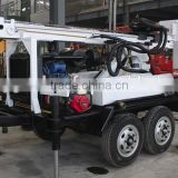 Hot sales and High Efficiency ! HF150T Trailer Water Well Drilling Machine Working with Air Compressor
