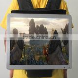 15.6 inchFull HD and 3G/WIFI android outdoor/indoor backpack LCD advertising display backpack tv photo picture