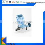 High-Profile plastic beach chair/metal folding chair