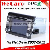 Wecaro WC-FB7000 Android 4.4.4 gps 1024*600 2 din car stereo for fiat bravo 2007 - 2012 bluetooth