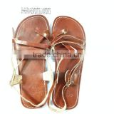 cute sandals for summer Women flat jesus sandal shoe brown leather and classic style