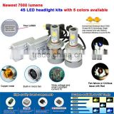 360degree led car headlight 9006 build in micro fan led car light kit with high quality chips