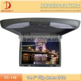 High Resolution 14.1 inch hdmi monitor with remote control wireless game, USD,SD card and HDMI