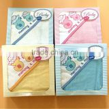New products 100% cotton terry hot selling China supplier absorbent baby hooded towel for kids