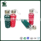 eco-friendly fashion new borosilicate glass water bottle ,populer new glass sports bottle