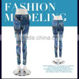 2016 ocean blue mixed clothing leopard spiral fish scale print sexy leggings wholesale