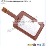 Wholesale custom cheap pvc luggage tag leather for travelling