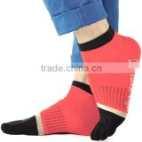 Comfortable custom wholesale contrast color toe socks produced by circular sock knitting machine