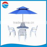 240CM blue fiber-glass double-deck wholesale parasols