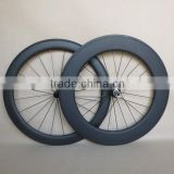 23mm wide u shape tubular carbon road wheels 60mm front and 88mm rear bicycle wheelset F:20H R:24H