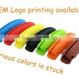 Pocket small tool silicone shopping bag holder with various colors
