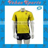 OEM service 100% polyester Sublimation rugby uniform with tackle twill