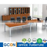 China supplier P2 furniture plain mdf board panel conference table in metal frame