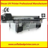 Docan wood glass door MDF funiture printer(wider format flatbed printer,CE) glass printer uv
