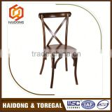 No Complain Professional Design Beech Wooden Cross Back Chair
