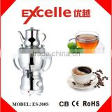 3.5L Stainless steel kitchen appliances Electric Samovar Kettle Coffee Maker Tea Water Kettle with silver plating