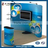 Newest Style Portable Folding Promotion Fabric Stand Customized Booth Graphic Tension Frame
