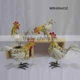 Hot sale online cheap cast iron decorative chickens