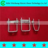 2015 Hebei Weichuang manufacturer hot-selling hot dip galvanized D bracket / D iron with bolts and nuts for pole line hardware