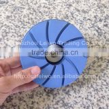 Snail Lock Pad 5 inch (125 mm) with Back-up Pad Edge Polishing Pads Bevel Granite Countertop Diamond Resin Chamfering Wheel