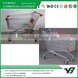 2015! Euro style used unfolding plastic shopping trolley smart cart for supermarket