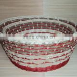 2016 Newest Handmade Round Rattan Furniture Basket Set/2 from Vietnam for Home decoration