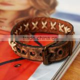 Fashion Jewelry leather Bracelet Punk Motorcycle Biker Bangle bracelets