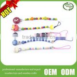 2016 baby pacifier chain clip wooden toys ,Hot Sale wooden baby pacifier clip,High Quality wooden dummy clips                                                                         Quality Choice