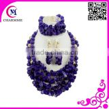 newest decorative handmade flowers for dresses with silicone teething beads for jewelry for fashion african beads jewelry set
