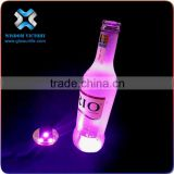 Birthday Party Event Led Cheap Factory Price UV Black Light Stick On Bottle Led Coaster,led bottle sticker