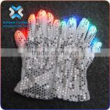2016 Led gloves, light up in the dark flashing gloves for the crazy party,light gloves led
