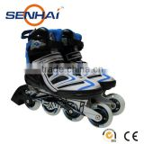 Blue and Red Adult Adjustable 4 Wheels Inline Skates Professional Hot Sale Rollers with PU wheels ABEC-5 Bearingss