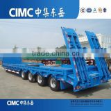CIMC 3 Axles 60T Excavator Transort Low Bed Semi Trailer