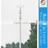 45m HDG China mobile monopole steel antenna tower
