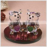 Lovely Crystal Bear Figurine Perume Bottle For Wedding Souvenir Gifts