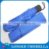 [FM3216] Three folding blue color one dollar umbrellas