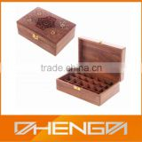 Hot!!! Customized Made-in-China Beautiful Design Sculpture Wood Essential Oil Box(ZDE13-W019)