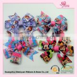 hair accessories manufacturers china Merry Christmas kids hairpin bow hair clip grosgrain boutique hair claw clip