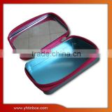 cosmetic tin box with zipper