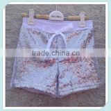Wholesale Kids Shorts With Bow Knot High Quality Baby Sequin Shorts Petti Short Pants With Stretchy Cotton Shorts
