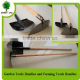 2016 Hot sales natural wood shovel handle / factory price wooden brush handles 120*2.5cm