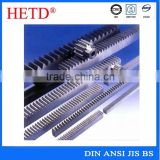 HETD Steel metal small rack and pinion gears with high quality gear racks