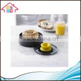 Kitchen Safty Tool Plastic Bagel Slicing Guide with Safety Cutting Finger Guard