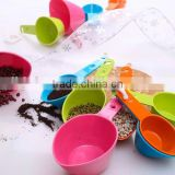 100% BPA free High quality colorful plastic 4pcs measuring spoon set for bakery