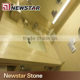 Newstar White Wooden Graining Marble Cut-to-Size Vanity Top with Double Sink Marble Colors