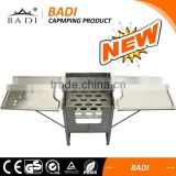 outdoor camping stainless protable charcoal and gas bbq stove with carry bag
