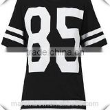 Womens Oversized Baggy Baseball Jerseys Custom Printed White & Black Jerseys T Shirt Wholesale