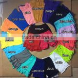 Wholesale Ruffle strip or solid Cotton Children Shorts girls sequin shorts baby girl shorts 2016