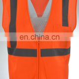 Orange Class 2 Workear Safety warning reflective Vest pockets