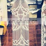 HANDWORK GOWN WORK TRIMS AND APPLIQUES IN CRYSTAL STONE